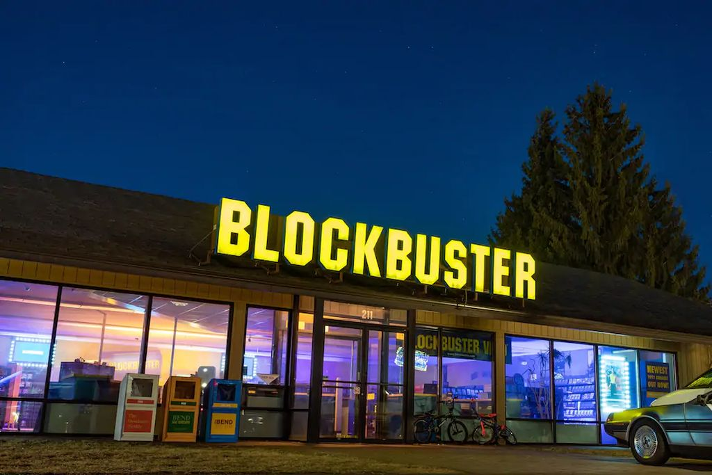 You can spend the night at the last Blockbuster Video for $4/night