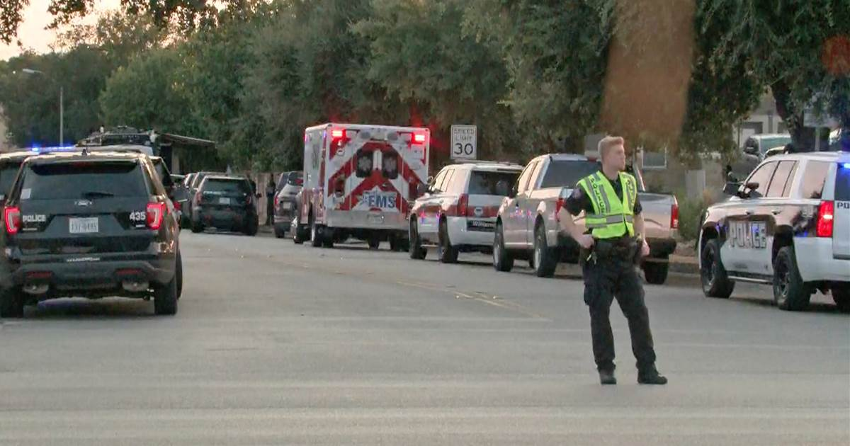 Man remains barricaded in Texas home with family hours after three responding officers shot