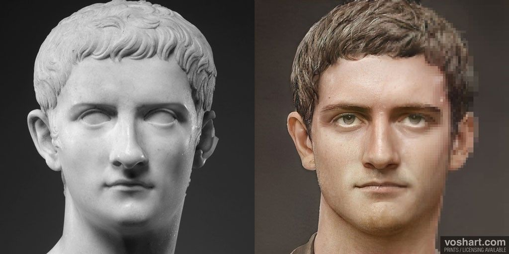 Creating photorealistic portraits of Roman Emperors using their sculptures