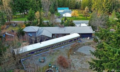 80-Foot-Long Train Car Is a Fascinating Feature of This Washington Home