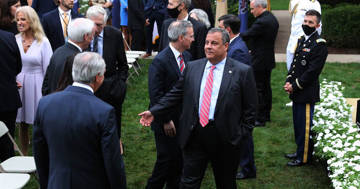 Chris Christie hospitalized after being diagnosed with Covid