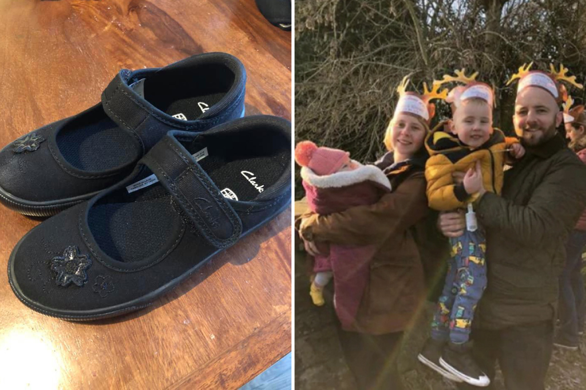 Mum asks her husband to pick up trainers for their son – and ends up with fancy girls' shoes instead