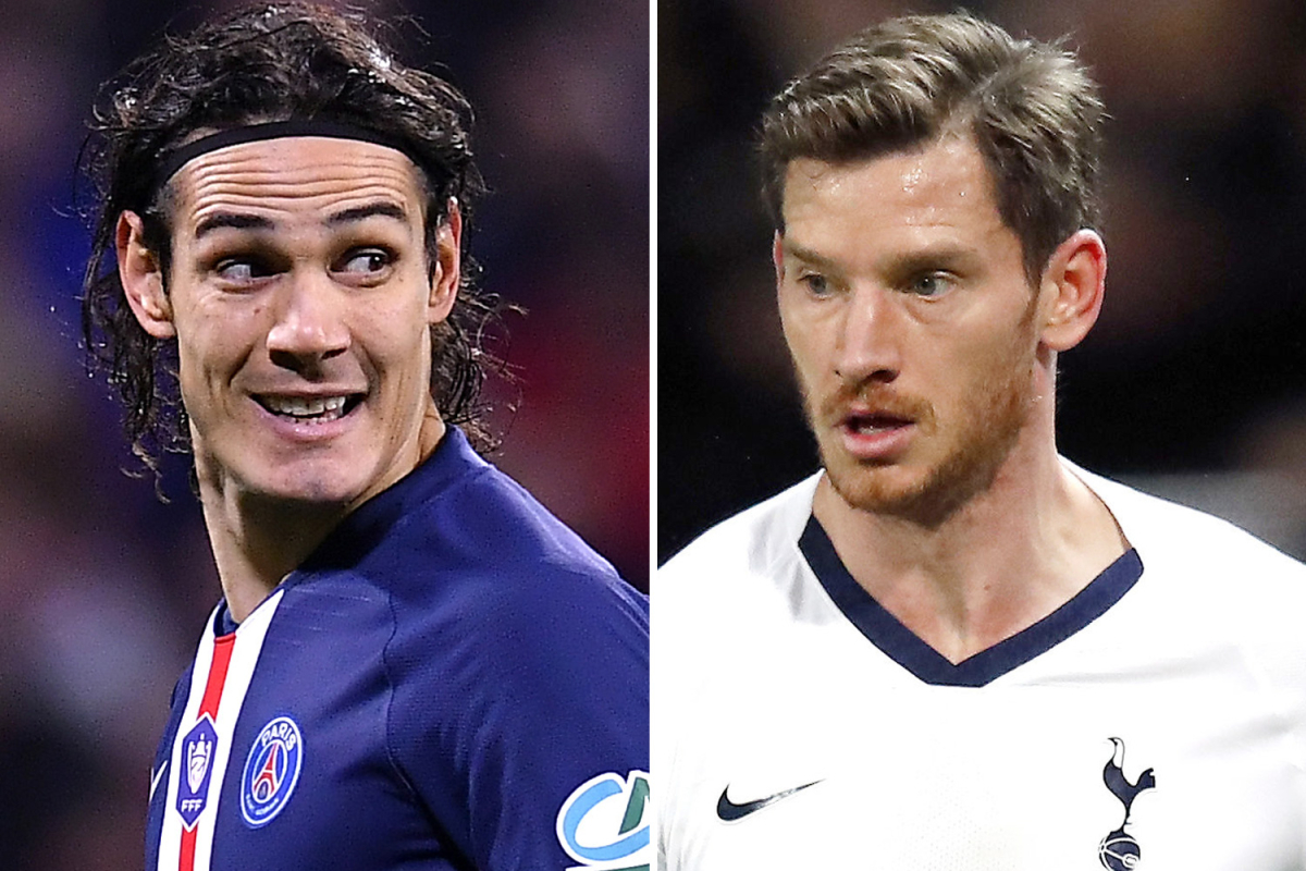 Jan Vertonghen closes in on Benfica transfer as Portuguese giants eye free moves for him and Cavani