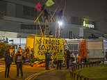 Extinction Rebellion protesters block roads outside national newspaper printing presses