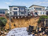 East coast residents brace for heavy rain that could spell disaster for beachside mansions