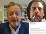 Piers Morgan slams US journalists as being 'hyper-partisan' for failing to cover Hunter Biden STORY