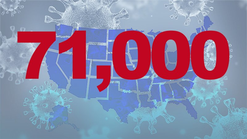 US Records More Than 71,000 Cases on Thursday