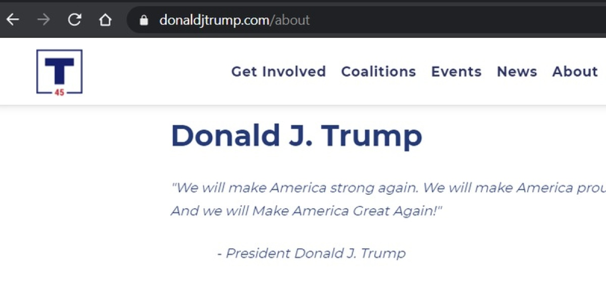 Hackers briefly swap out a page on the Trump campaign site