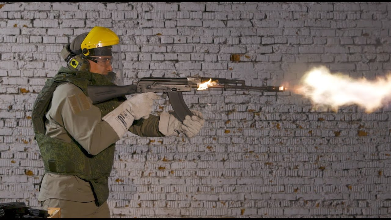 Shooting an AK-103 until it catches fire