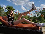 That's pin-credible! Woman, 17, who stands tall at 6ft 10in has the longest legs in the world