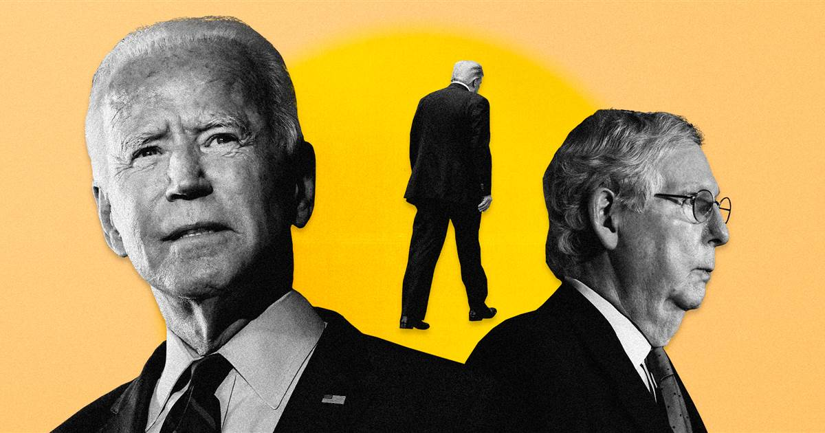 Biden predicted a GOP 'epiphany' after the election. Trump's standing in the way.