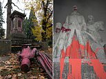 Portland businesses are vandalized and monuments are defaced in four US cities on Thanksgiving Day