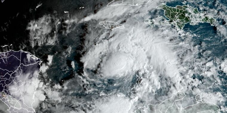Eta forms, tying Atlantic record for most tropical systems in a season