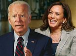 Biden and Harris publicly bury the hatchet as she calls her previous attacks on him a 'distraction'