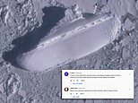 Google Earth user spots '400ft ice ship' sitting off the coast of Antarctica