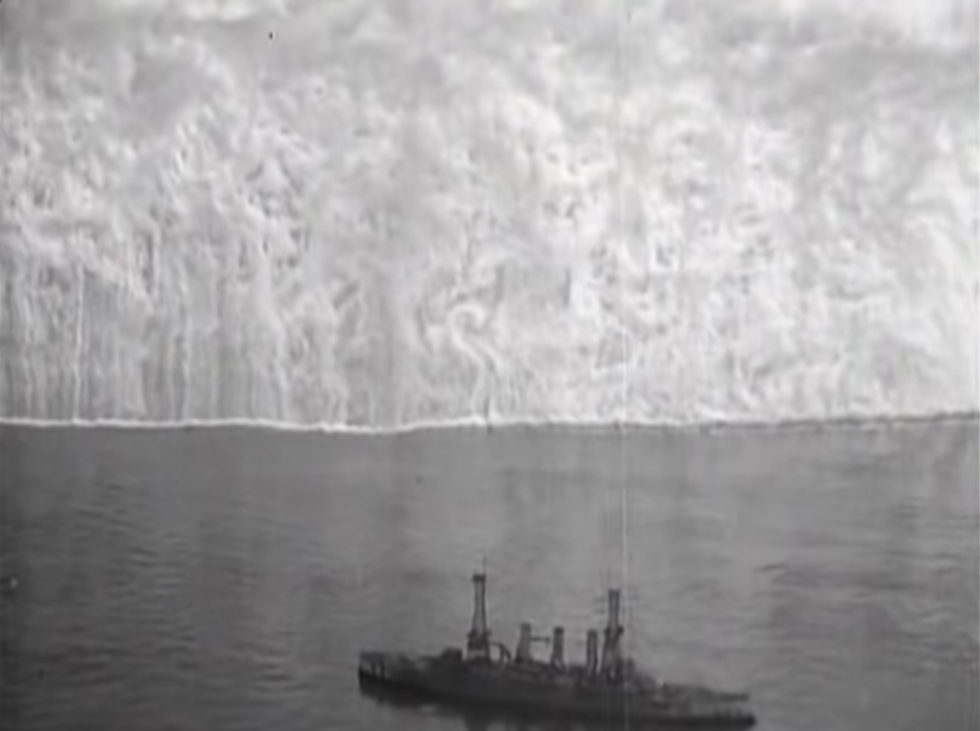 Watch: Airplane Makes Battleship Disappear With a Smoke Screen