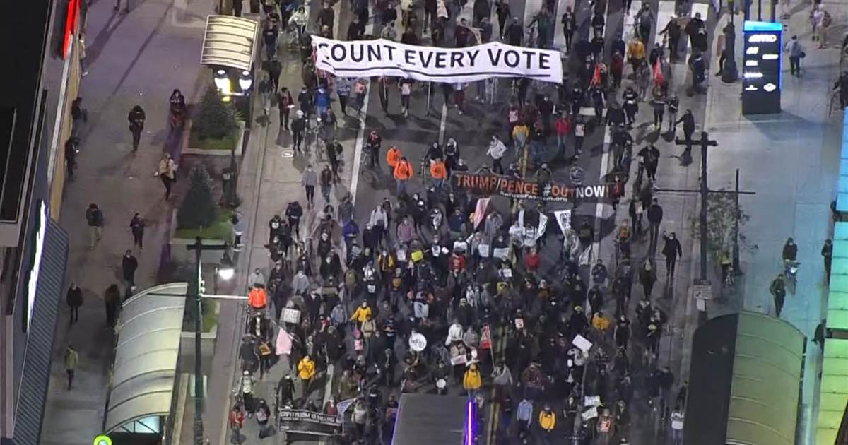 Count the vote protests held across U.S.