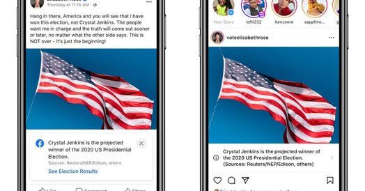 Facebook will announce presidential election result in Facebook and Instagram notifications