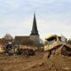 Heavy-duty diggers continue to transform 27-acre field in Kent into 2,000-space Brexit lorry park
