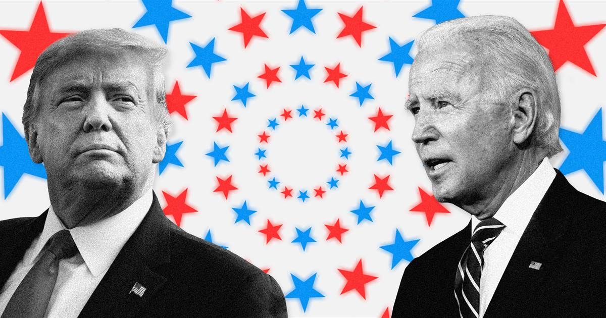 Watch Trump, Biden supporters trade opinions outside counting center