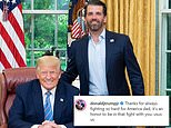 Don Jr thanks Trump for 'fighting so hard for America'