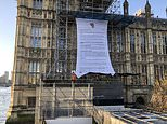 Three activists scale Parliament calling for slavery reparations to be paid