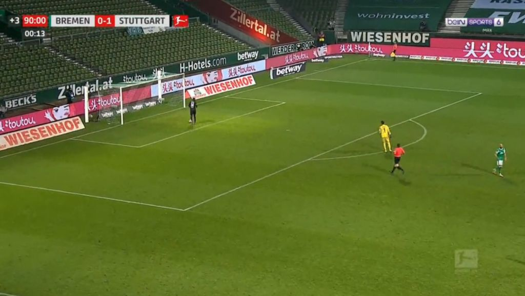 Cheeky soccer player makes brutally slow goal