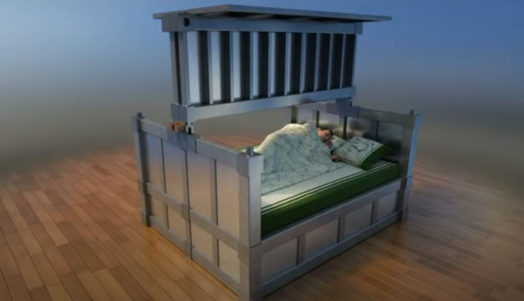This concept for an 'anti-earthquake bed' is more terrifying than any actual earthquake