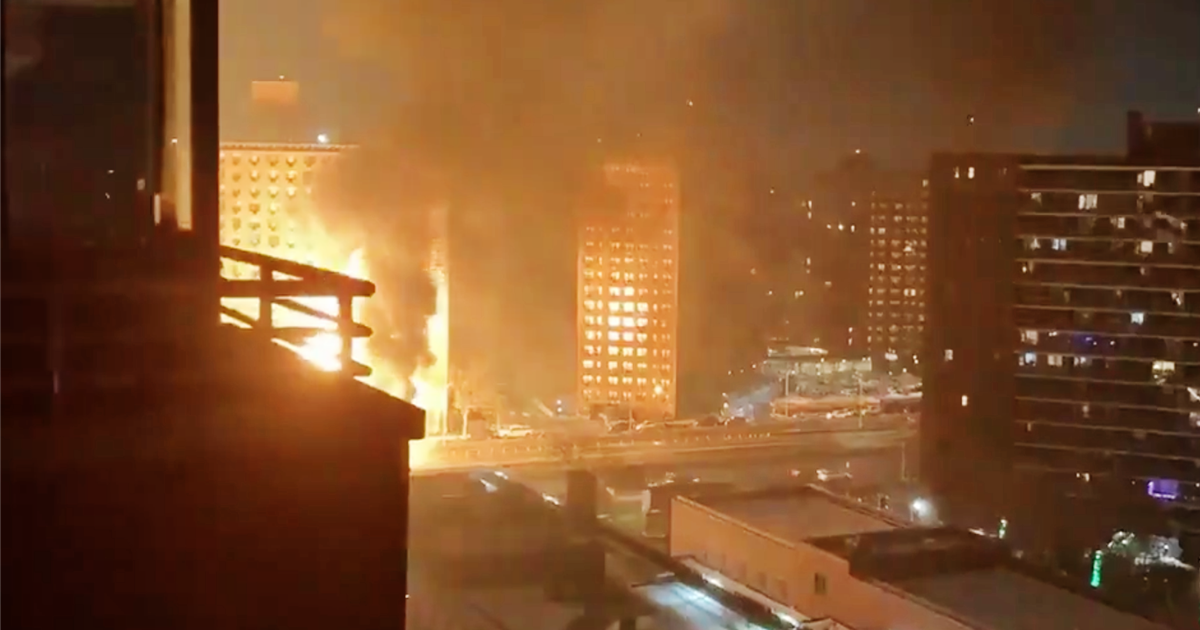 Videos show massive fire after truck flips, exploding propane tanks