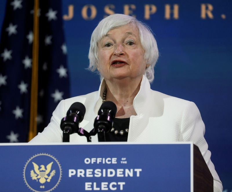 Biden's Treasury nominee Yellen discloses paid speaking gigs for financial firms