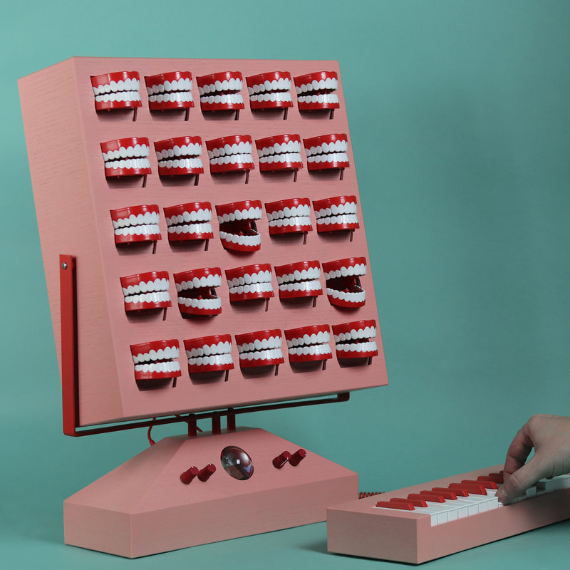 A conceptual vocal synthesizer made out of chattering teeth