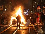 Belgian rioters attack the king's car in violent unrest over police custody death