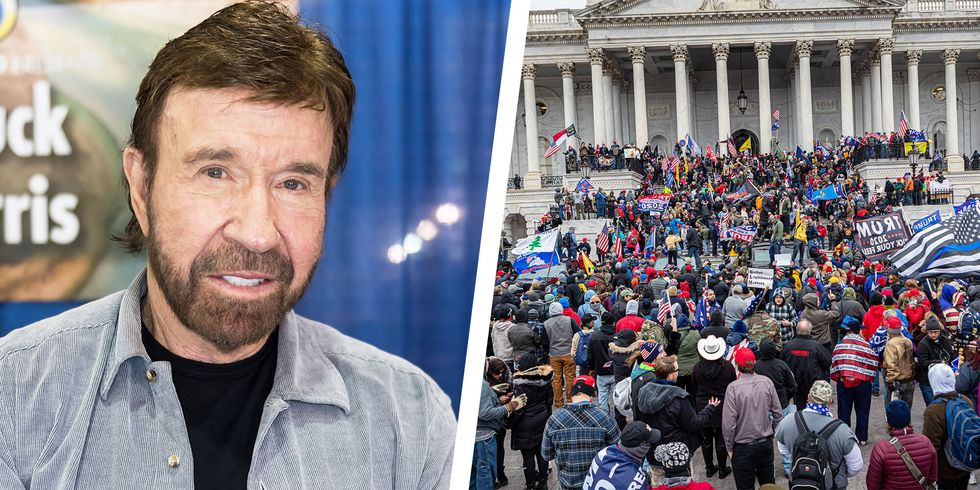 Chuck Norris Says It's Not Him in Viral Lookalike Photo from U.S. Capitol Riot