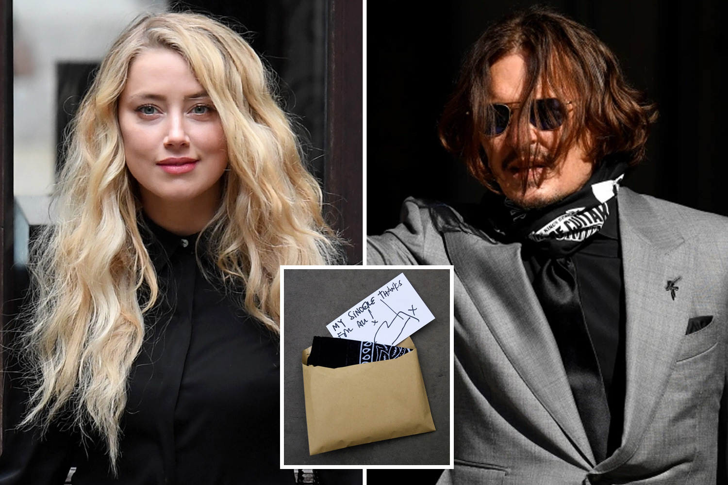 Johnny Depp fans armed with gifts storm court as he gives out handwritten notes and bandanas