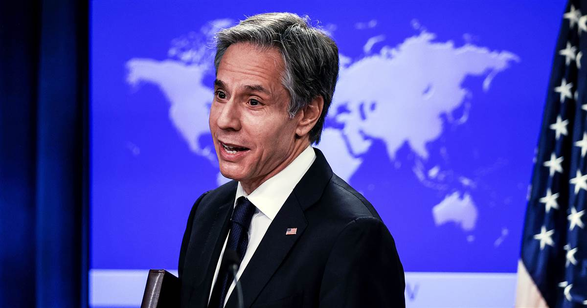 On first day, Sec. of State Blinken pledges to restore American leadership on world stage