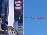 Wolves of Reddit mock humbled hedge funds with giant billboard in NYC and airplane banner