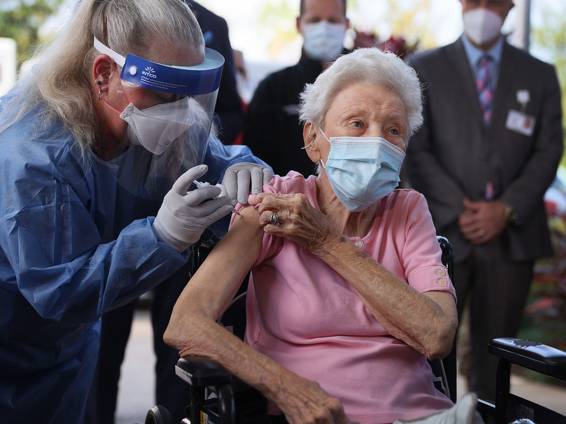 Cases of COVID-19 in nursing homes have steadily fallen since the US rolled out vaccines, the latest data shows