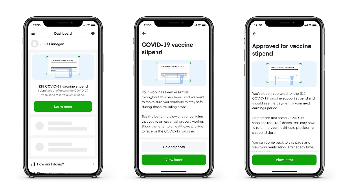 Instacart COVID-19 vaccine stipend arrives: Everything you need to know