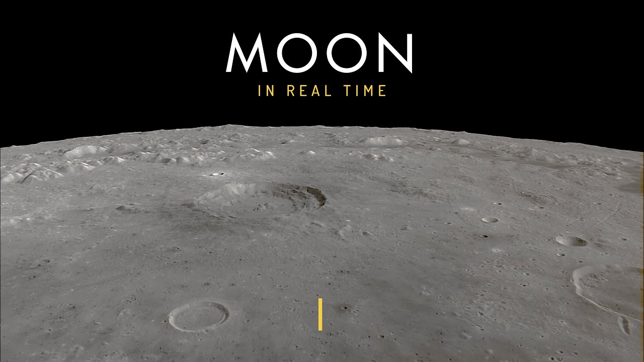 Orbiting the Moon in real-time