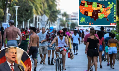 Miami beaches to close for July 4 as 6 states suffer COVID highs and Texas gov admits he let bars reopen too soon