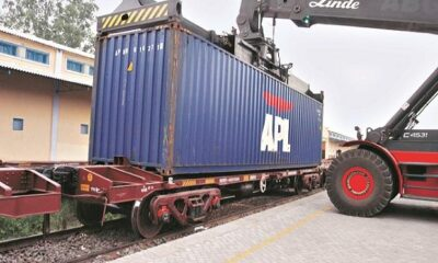 Railways trial run of double-stacked dwarf container train successful