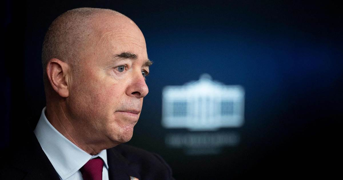 DHS Secy. Mayorkas promises to address 'surge of individuals' at U.S.-Mexico border
