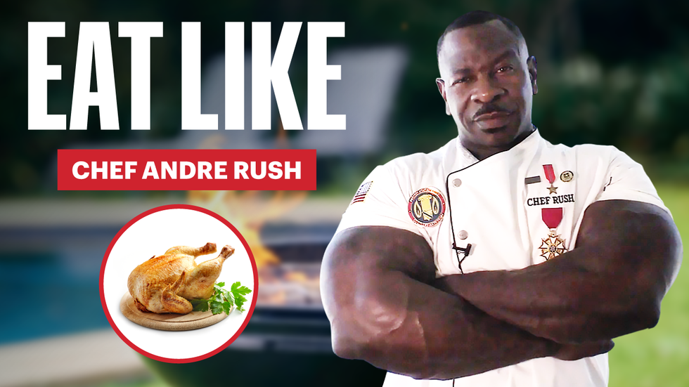 'Jacked Chef' Andre Rush Eats Up to 10,000 Calories a Day