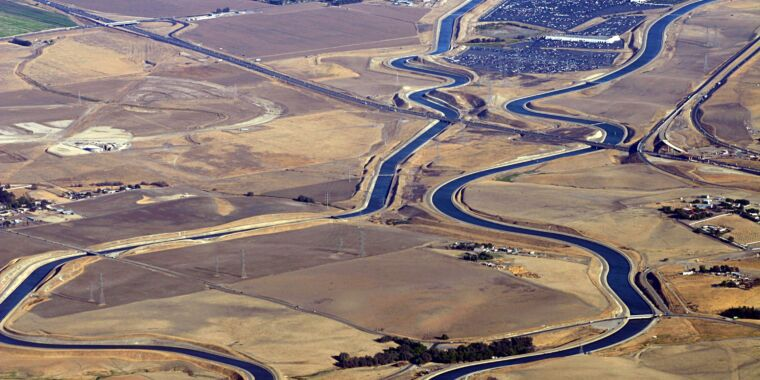 The economics of covering California's water system with solar panels