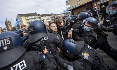 Germany Police Clash With Protesters Against Virus Measures