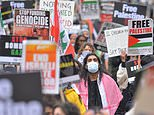 Thousands of protesters march through Hyde Park in solidarity with people of Palestine