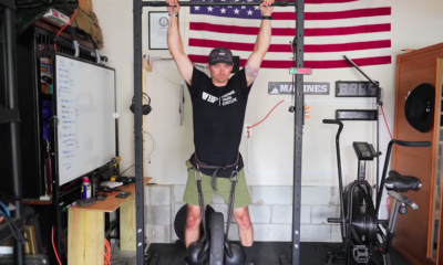Watch This US Marine Attempt the Climbing Strength Test