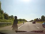 Motorway drivers in Kent forced to slam brakes as woman takes stroll towards oncoming M20 traffic