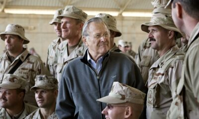 I have family members who died in the Iraq War. I'm not mourning Donald Rumsfeld.