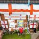 England fan admits 'I have gone a bit mad' with his St George-festooned house ahead of final